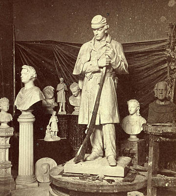 Maquette Of Union Soldier For Roxbury Soldiers Monument Print by Litz Collection