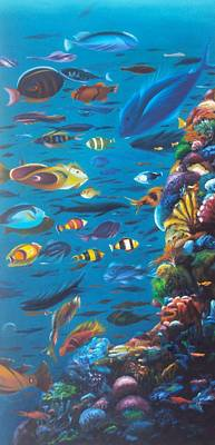 Carita Painting - Mar De Peses by Extranjerocus