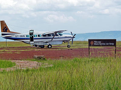Photograph - Mara Serena Air Strip by Tony Murtagh