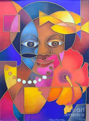 Painting - Marama Ni Viti - Fijian Woman by Maria Rova