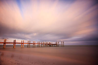 Abstract Beach Landscape Photograph - Marathon Key Long Exposure by Adam Romanowicz