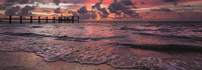 Violet Photograph - Marathon Key Sunrise Panoramic by Adam Romanowicz