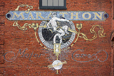 Nashville Sign Photograph - Marathon Motor Cars Sign by Mike McGlothlen