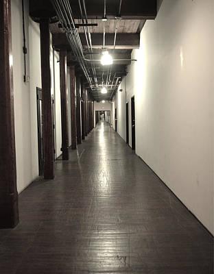 Ally Photograph - Marathon Music Works Hallway by Ally  White