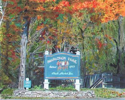 Marathon Park Art Print