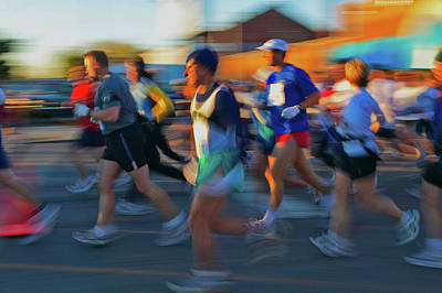 Columbus Ohio Photograph - Marathon Runners In Columbus Ohio by Panoramic Images