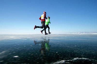 Siberia Photograph - Marathon Runners by Louise Murray