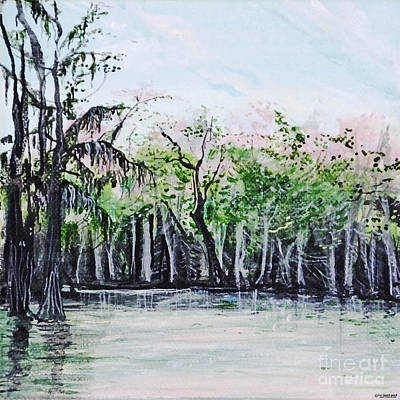 Painting - Maraupas Swamp St Johns Parish Louisiana by Lizi Beard-Ward