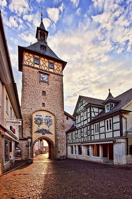 Mood Photograph - Marbach Clock Tower by Marcia Colelli