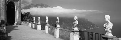 Ravello Photograph - Marble Busts Along A Walkway, Ravello by Panoramic Images