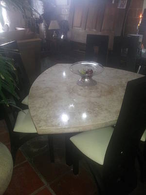 Basilio Photograph - Marble Diamond Table by Unique