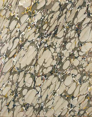 Marble Endpaper Art Print by English School