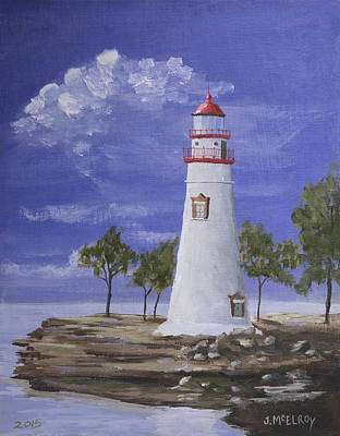 Marble Head Lighthouse Original by Jerry McElroy