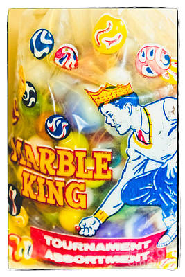 Photograph - Marble King - Vintage Marbles by Colleen Kammerer