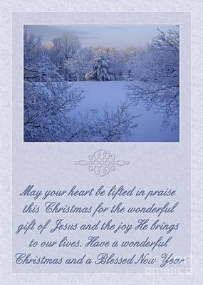 Digital Art - Marble Peaceful Christmas Gift by JH Designs