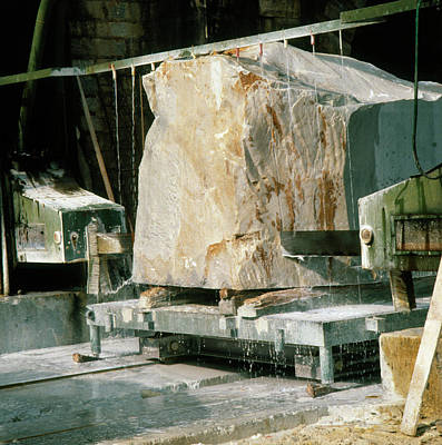 Carrara Marble Wall Art - Photograph - Marble Quarry At Fantiscritti Caves by Sheila Terry/science Photo Library.