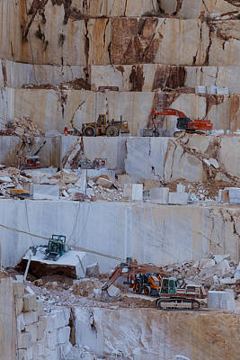 Photograph - Marble Quarry by Paul Indigo