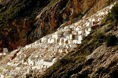 Carrara Marble Wall Art - Photograph - Marble Quarry Waste by Mauro Fermariello/science Photo Library