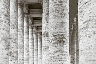 Marble Roman Columns Art Print by Susan Schmitz