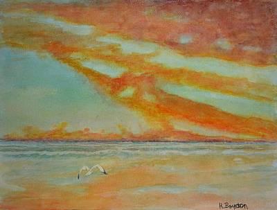 Watercolor Painting - Marble Skies by Hannah Boynton