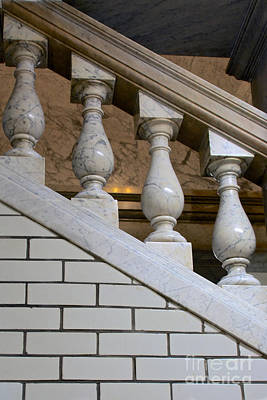 Photograph - Marble Staircase by Mark Dodd