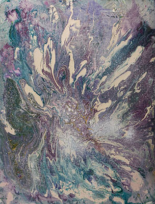 Marbled Paisley I Art Print