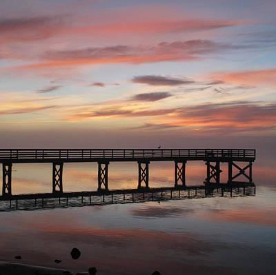 Photograph - Marbled Pier by Suzy Piatt