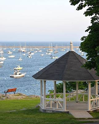 Photograph - Marblehead Harbor Gazebo by Toby McGuire