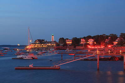 Photograph - Marblehead Harbor Illumination by John Burk