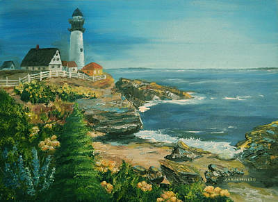 Painting - Marblehead In Full Bloom by Carol L Miller