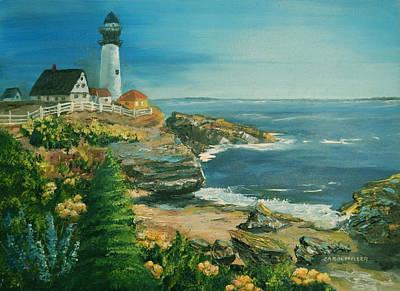 Painting - Marblehead In Full Bloom by Carol L Miller