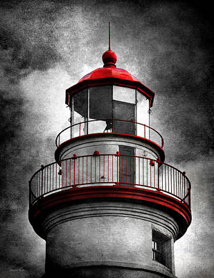 Photograph - Marblehead Lighthouse - Alternate Reality by Shawna Rowe