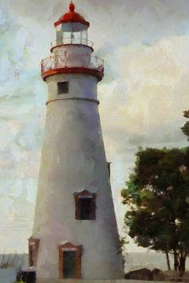 Clinton Painting - Marblehead Lighthouse Painting by Dan Sproul