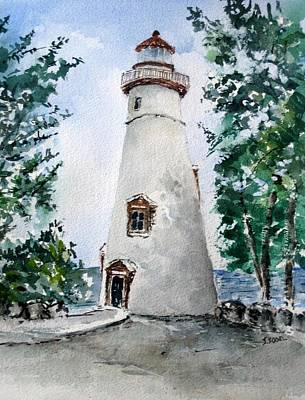 Painting - Marblehead Lighthouse  by Stephanie Sodel