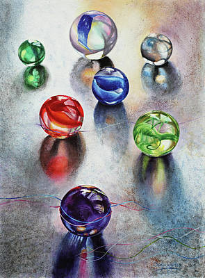 Painting - Marbles 1 by Carolyn Coffey Wallace
