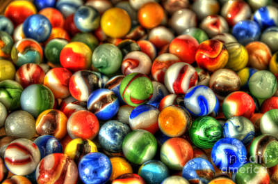 Photograph - Marbles 1 by Sarah Schroder