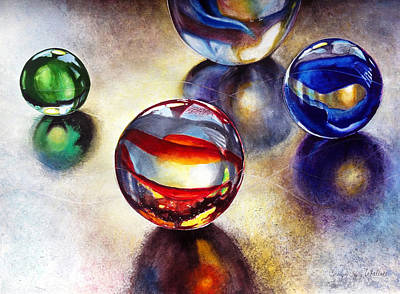 Painting - Marbles 2 by Carolyn Coffey Wallace