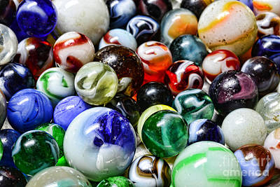 Marbles All That Color Art Print by Paul Ward