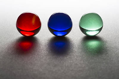 Superhero Ice Pops - Marbles Red Blue Green 1 by John Brueske