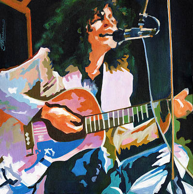 Marc Bolan Painting - Marc Bolan. Dandy In The Underworld by Tanya Filichkin