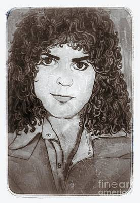 Marc Bolan Painting - Marc Bolan In Monochrome by Joan-Violet Stretch