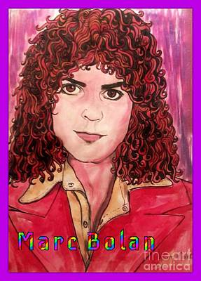 Marc Bolan Painting - Marc Bolan Poster Style by Joan-Violet Stretch