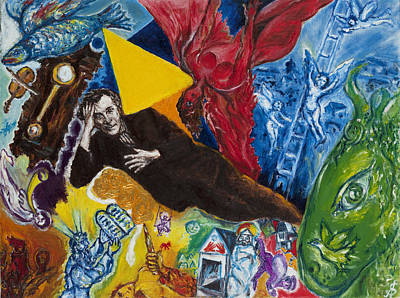 Marc Chagall Painting - Marc Chagall by Sviatoslav Alexakhin