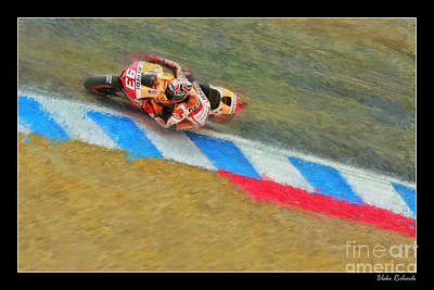 Photograph - Marc Marquez by Blake Richards