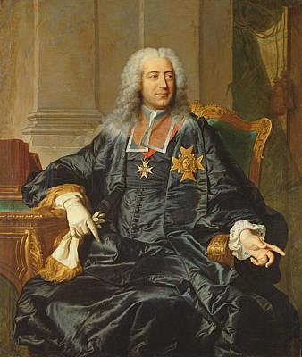 Marc-pierre De Voyer-de-paulmy 1696-1764 Count Of Argenson Oil On Canvas Art Print by Hyacinthe Rigaud