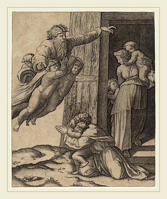 Marcantonio Raimondi After Raphael Italian Art Print
