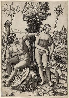 Marcantonio Raimondi Possibly After Andrea Mantegna Italian Art Print