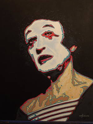 Marcel Marceau Painting - Marcel by Jeff Warren