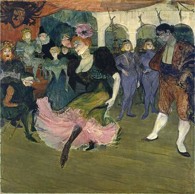 Marcelle Lender Dancing The Bolero In Chilperic Art Print by Henri de Toulouse-Lautrec