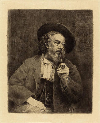Self-portrait Drawing - Marcellin-gilbert Desboutin French, 1823 - 1902 by Quint Lox